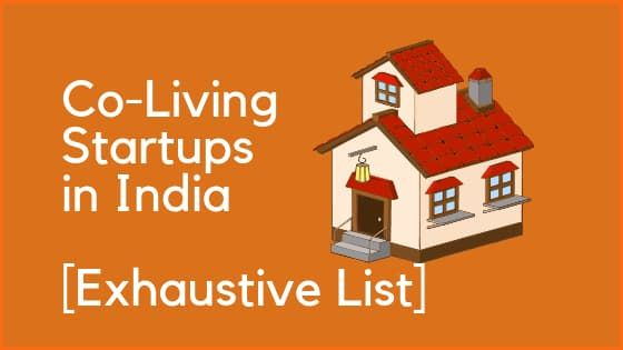 List of Top Co-living Startups in India