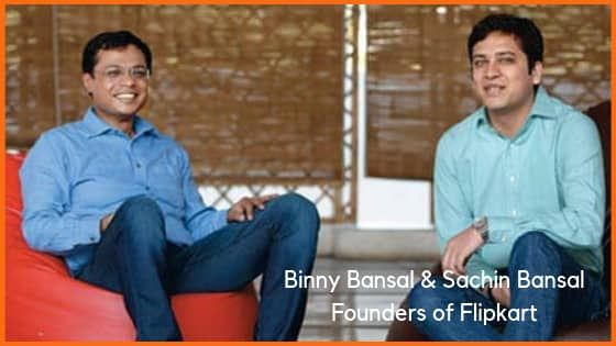 Binny Bansal and Sachin Bansal, founder of Flipkart