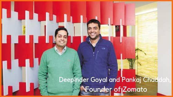 Deepinder Goyal and Pankaj Chaddah, founder of Zomato