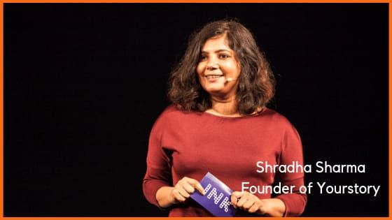 Shradha Sharma, founder of Yourstory
