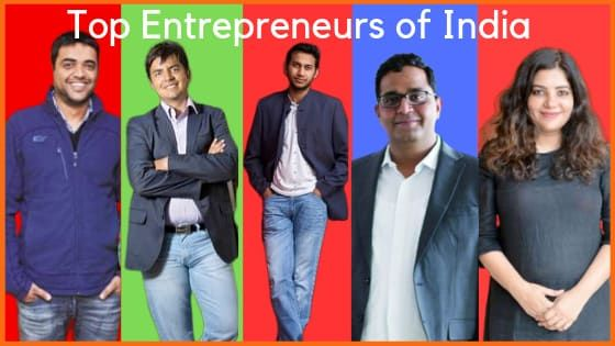 Top Entrepreneurs of India | Successful Indian Entrepreneurs