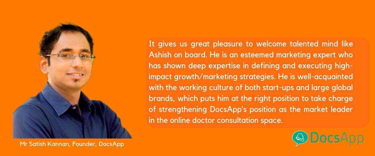 Mr.Satish Kannan, Founder of DocsApp