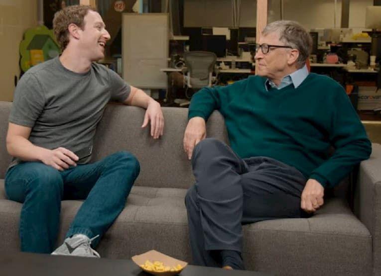 Mark Zuckerberg & Bill gates