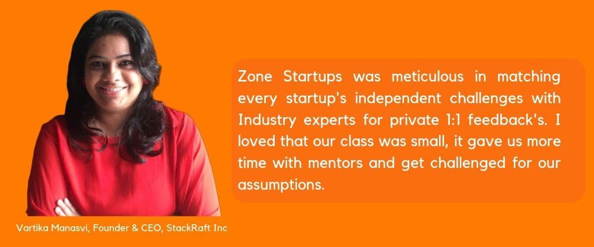 Vartika Manasvi,Founder & CEO,StackRaft Inc