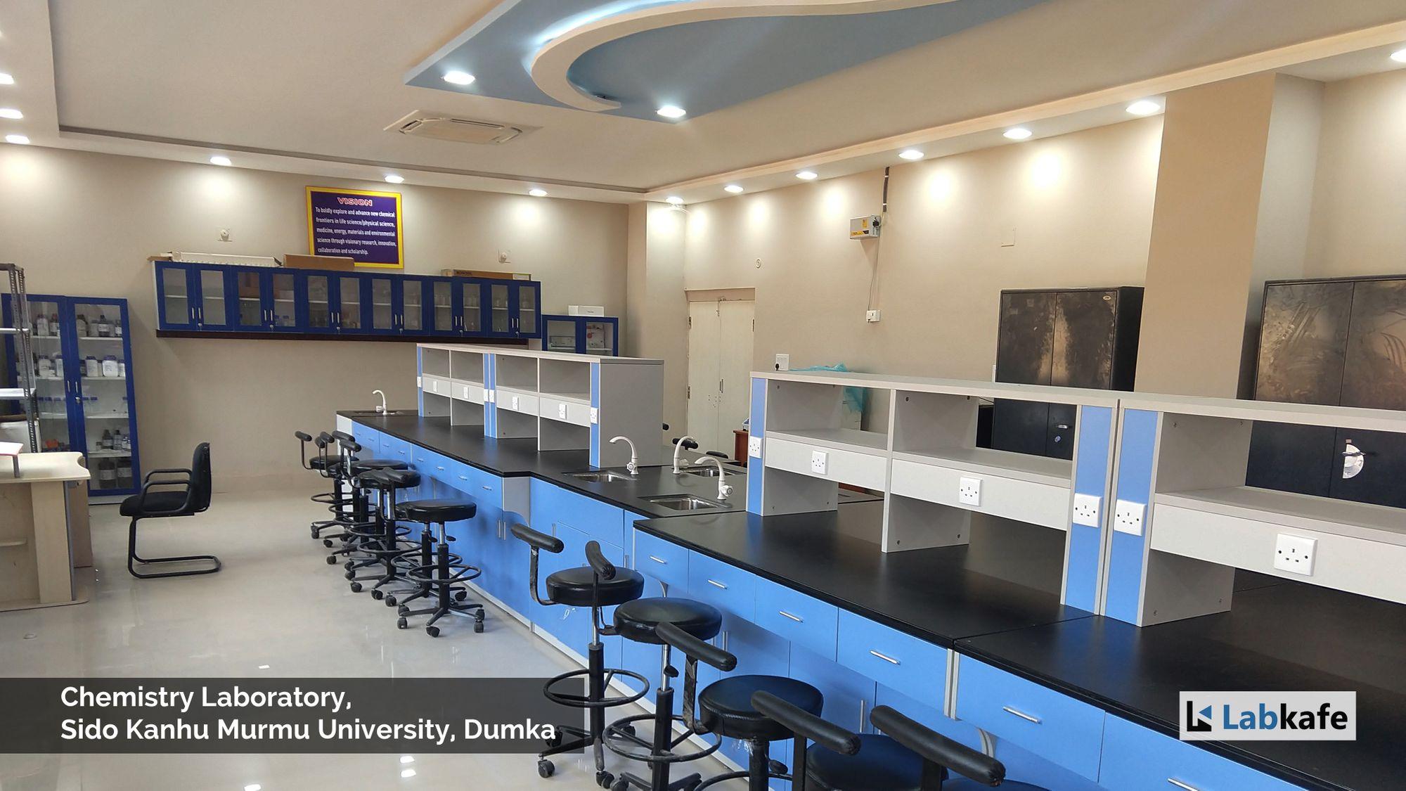 Labkafe, laboratory equipment installed at Sido Kanhu Murmu University.