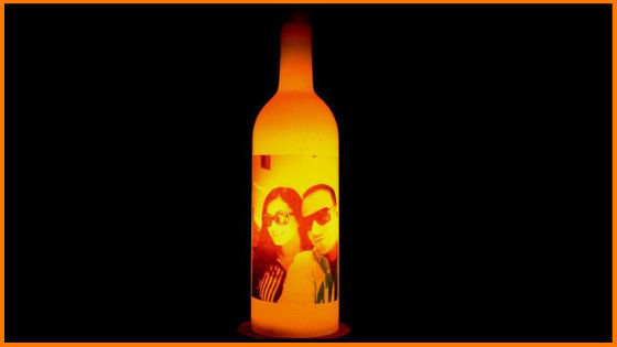 Personalised Bottle Lamp