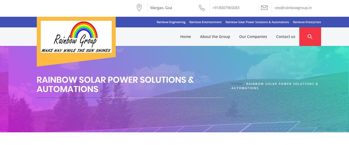 Rainbow Solar Power Solutions & Automations- Goa Startups