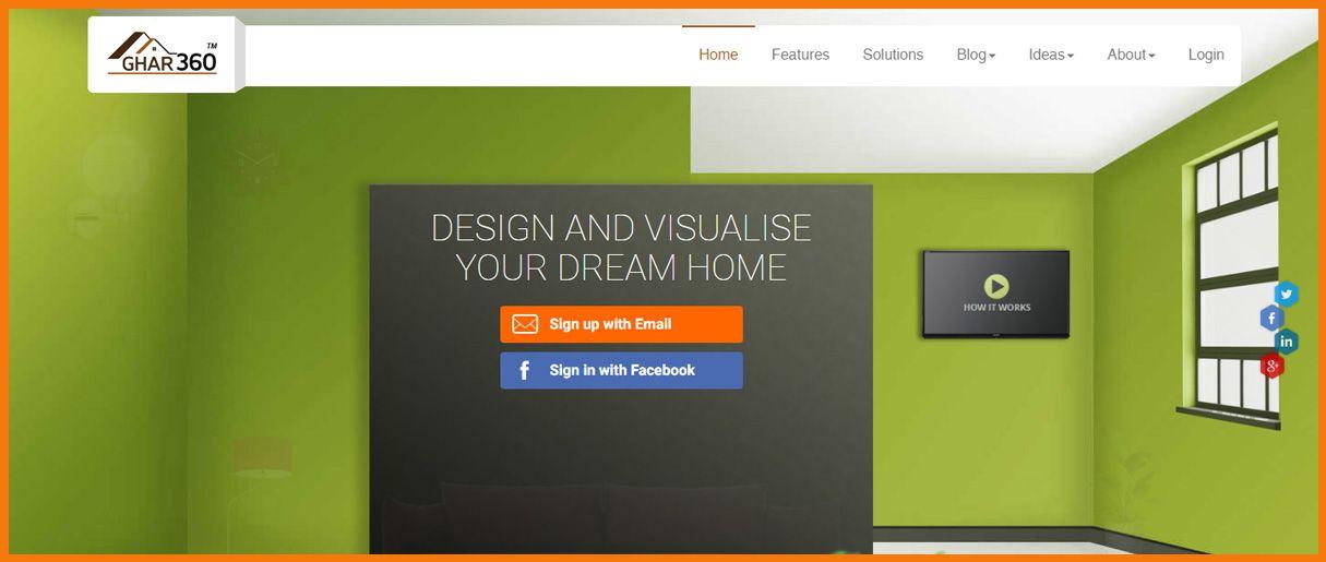 Ghar360 homepage