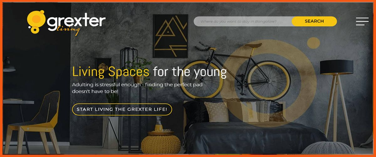 Grexter Living homepage