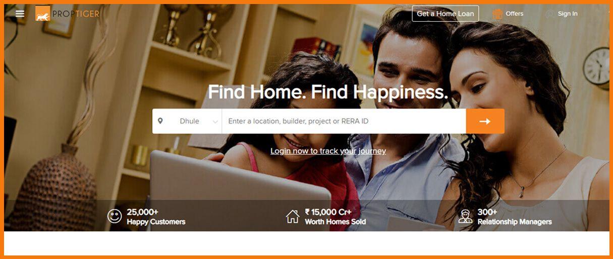 PropTiger homepage