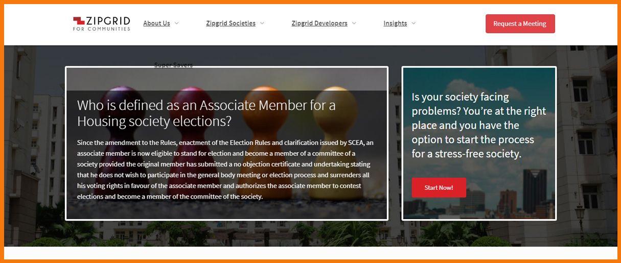 Zipgrid homepage