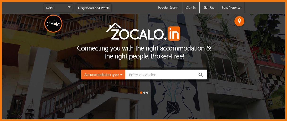 Zocalo homepage