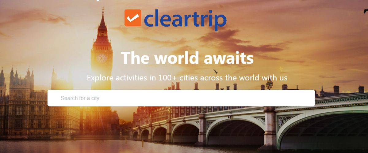 Cleartrip homepage