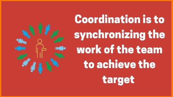 Coordination's simple definition