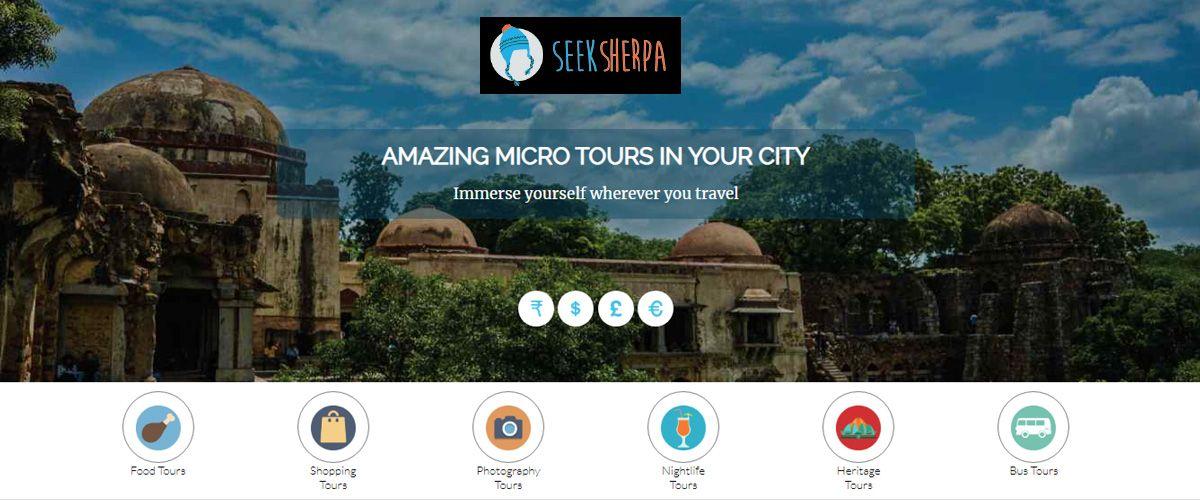 SeekSherpa's homepage