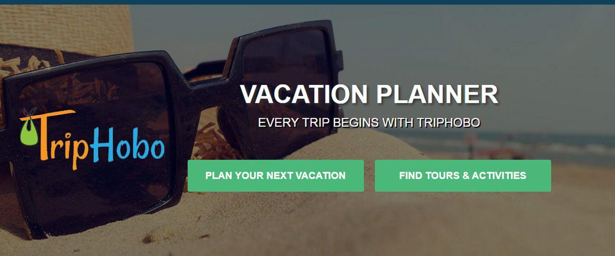TripHobo's homepage