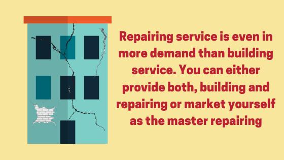 Scope of repairing service