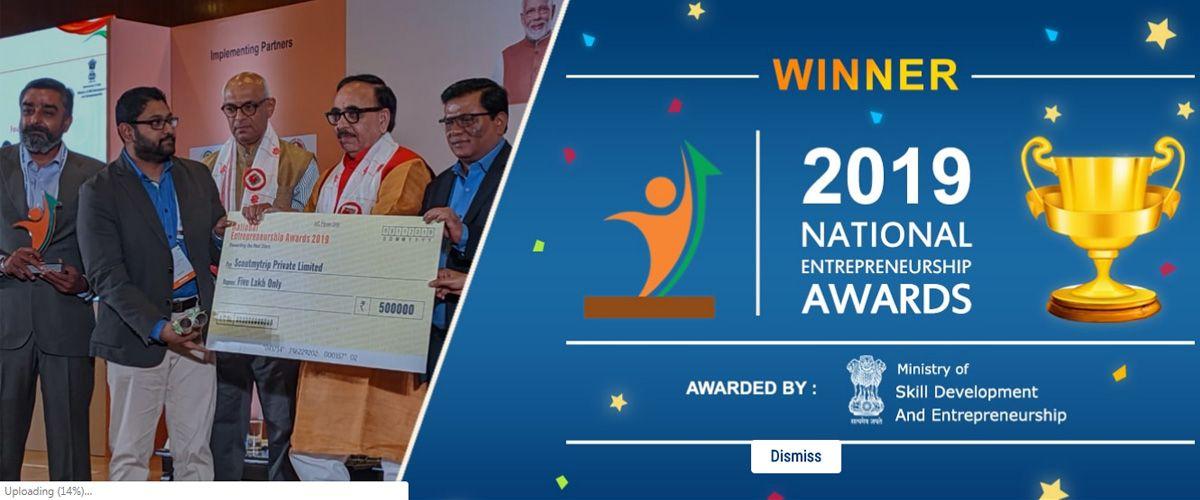 ScoutMyTrip won 2019 National Entrepreneurship Awards