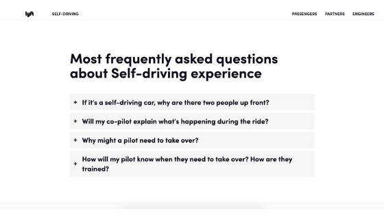 Lyft's FAQ Section