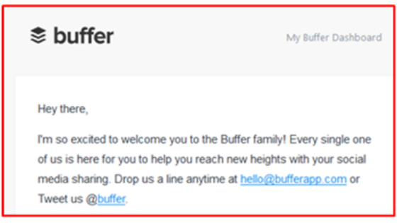 Example provided by Buffer