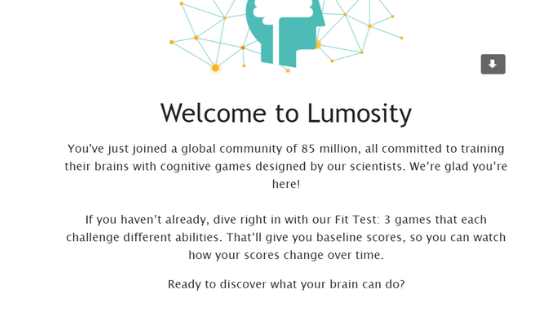 Lumosity welcome email