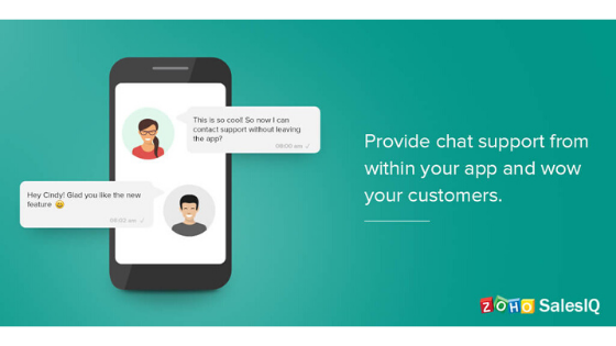 In-app chat feature