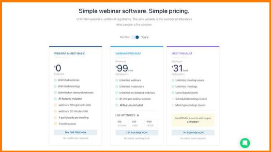 LiveStorm pricing