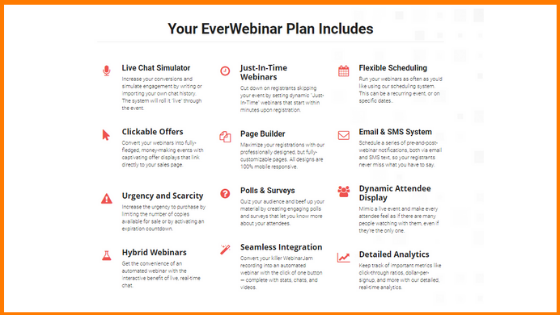 Features of EverWebinar