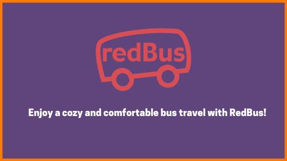 RedBus - Enjoy a cozy and comfortable bus travel with RedBus!