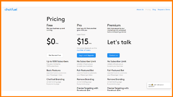 Chatfuel Pricing