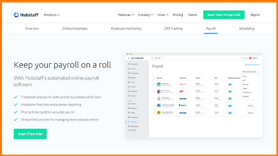 Hubstaff -payroll Tools