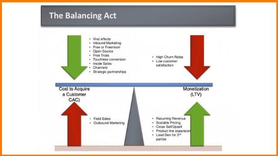 Balance between CAC and LTV
