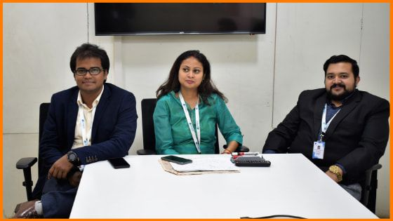 Starting from Left Mr.Muzafar Hussain(Founder And CEO), Mrs.Apurva Gupta(Co-Founder And CMO), and Mr.Santosh SN(Co-Founder And CTO).