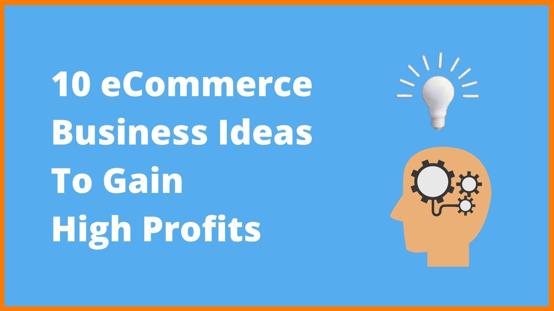 10 Highly Profitable Ecommerce Business Ideas