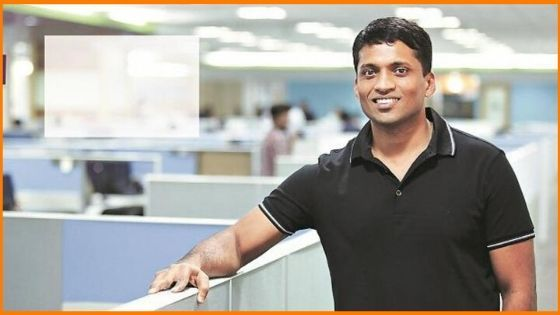 Byju Raveendran is founder and ceo of Byju