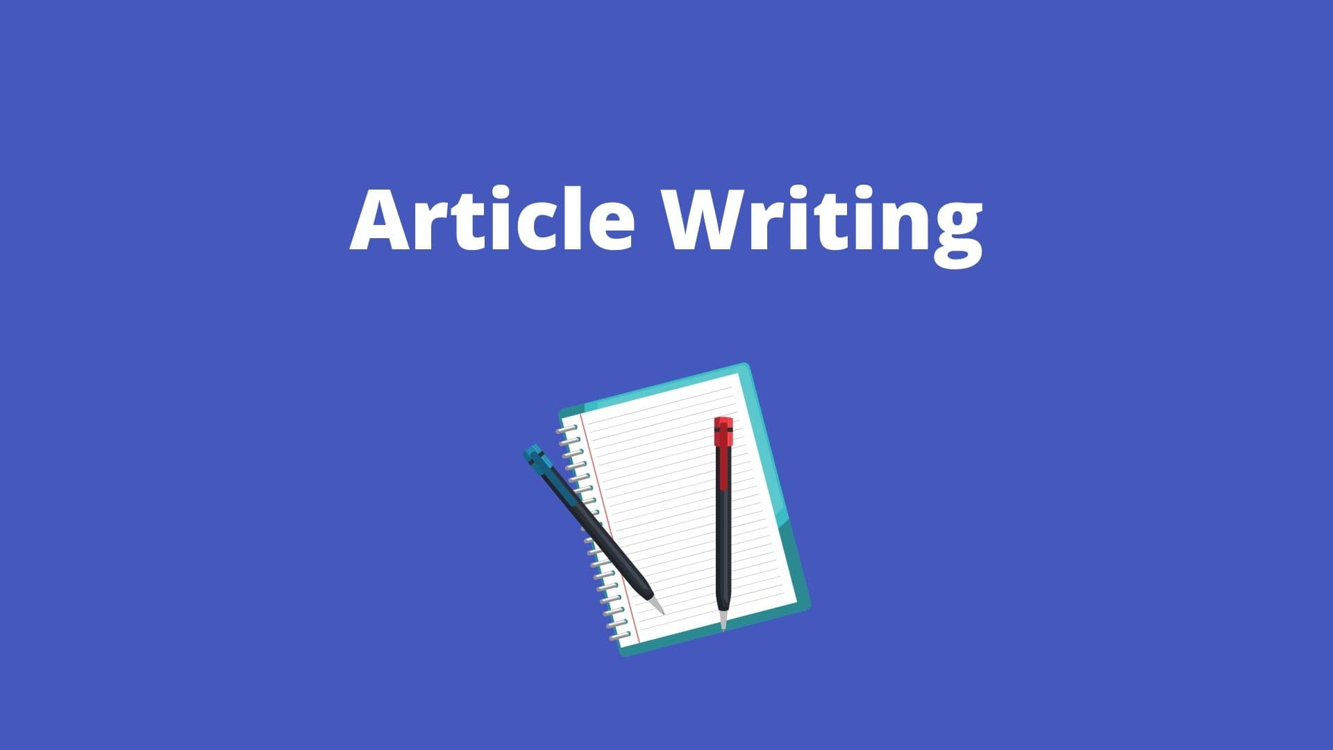 Article writing- home based business idea