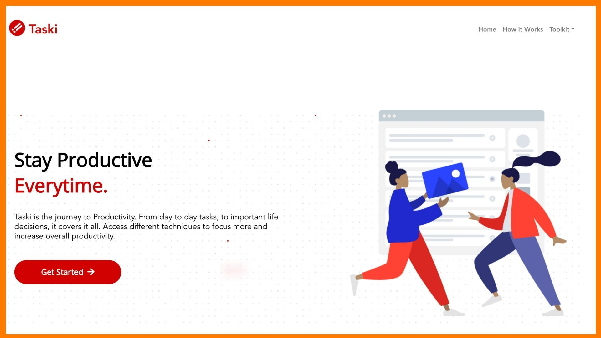Taski website snapshot