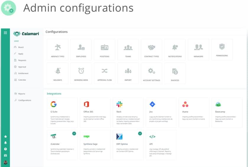 Calamari Admin Configurations