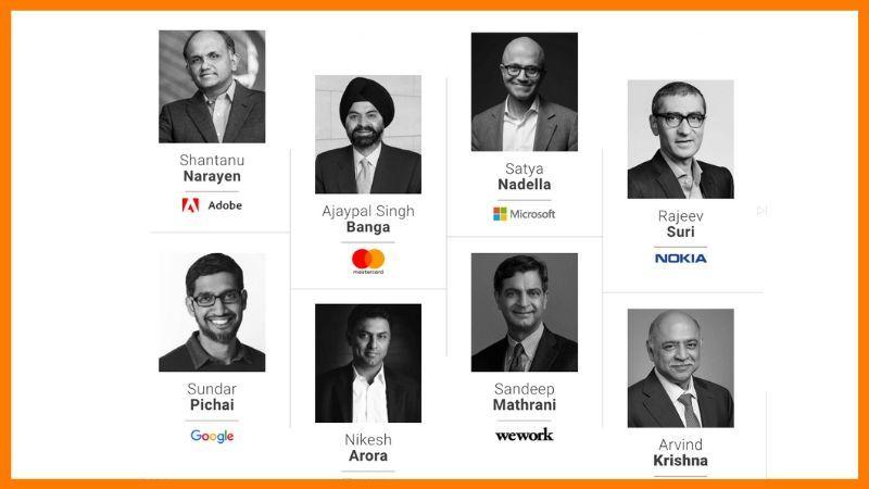 World-leading India origin CEOs