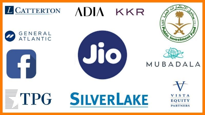 Companies that have Invested in Jio