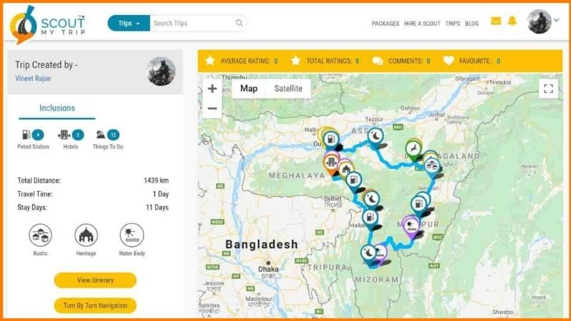 Itinerary Created by ScoutMyTrip