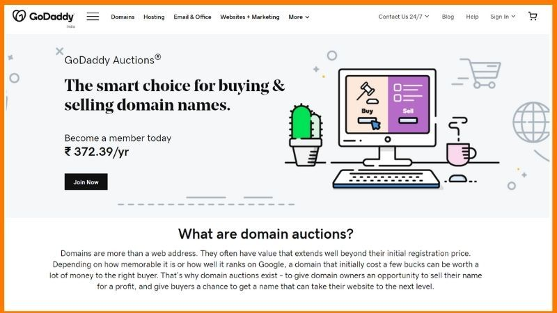 GoDaddy Auctions - Buy or Sell Domains