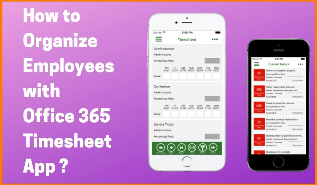 How to Organize Employees with Office 365 Timesheet App?