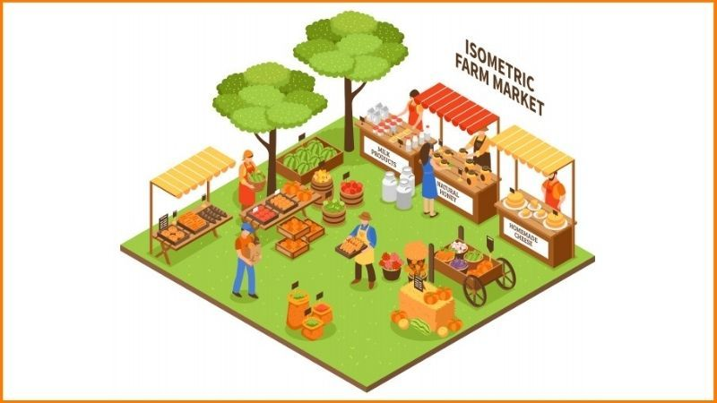 Farm Market in rural areas: MANDI