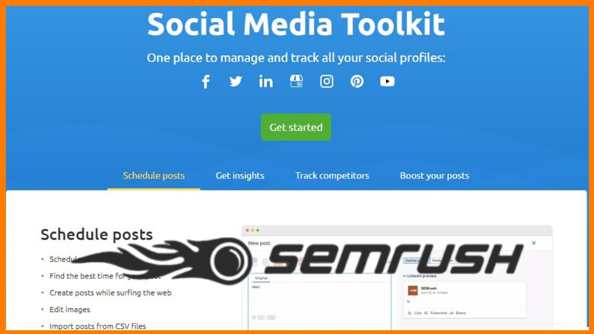 SEMrush Social Media Toolkit is Free Now for Users