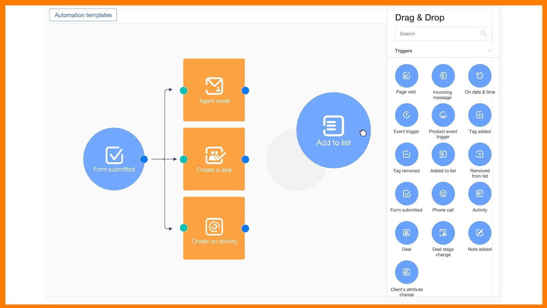 Drag & Drop Automation Builder
