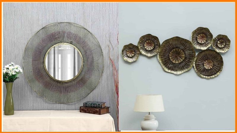 Vedas Products - Atha Mirror and Marsh Tin Wall Decor