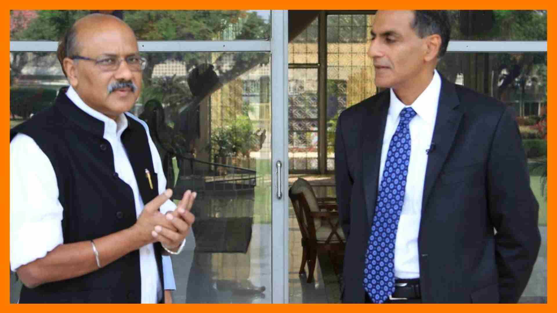 Shekhar Gupta with Richard Verma in Walk the Talk show