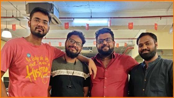 Veda Labs Founders Saurabh Yadav, Saurabh Shandilya, Vivek Singh & Veer Mishra (Left to Right)