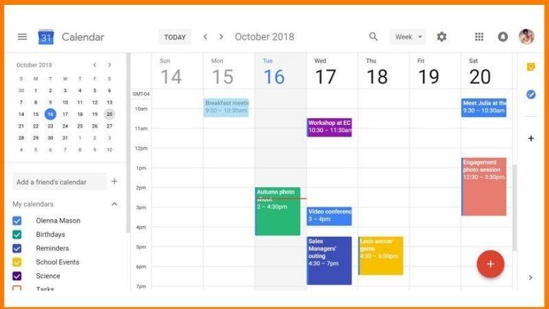 Google Calendar Dashboard